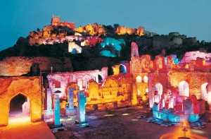 Golconda Fort at Night