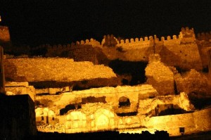 Golconda Fort at Night Pictures