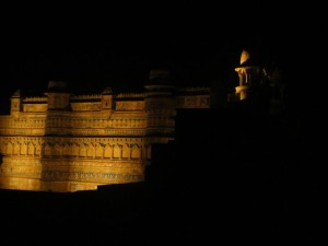 Gwalior Fort at Night View