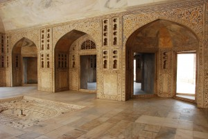 Inside of Agra Fort