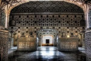 Inside of Agra Fort Sheesh Mahal