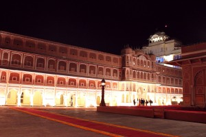 Jaipur City Palace at Night