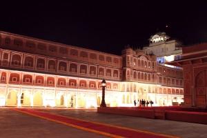 Jaipur City Palace at Night