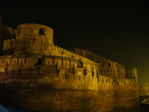 Night View at Agra Fort