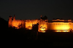 Night View at Amber Fort