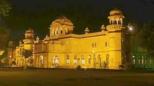 Night View at Lalgarh Palace