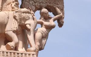 Sanchi Stupa Yakshi