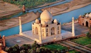 Taj Mahal Garden Aerial View