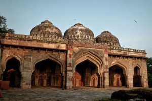 Three Domed Mosque in Lodhi Gardens