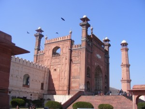 Badshahi Mosque Entrance Side View