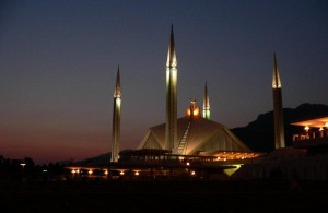 Faisal Mosque at Night
