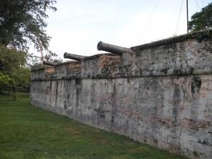Inside Fort Cornwallis