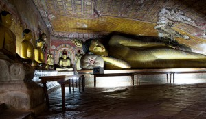 Inside View of Dambulla Cave Temple