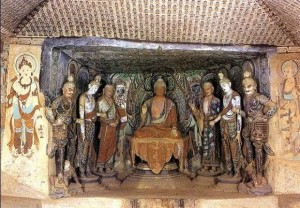 Inside View of Mogao Caves