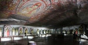 Inside of Dambulla Cave Temple