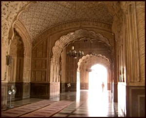 Interior of Badshahi Mosque