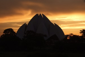 Lotus Temple Sunset