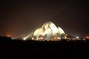 Night View Lotus Temple