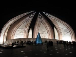 Pakistan National Monument at Night
