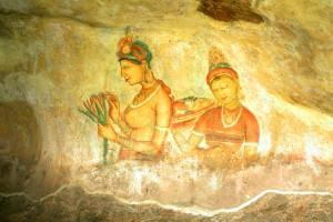 Sigiriya Fresco Sacred Fort Inside
