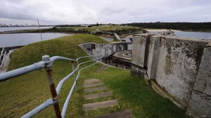 Inside View of Bare Island Fort