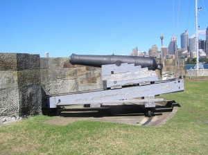 Inside View of Fort Denison