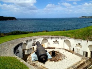 Inside of Bare Island Fort