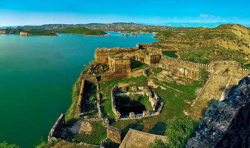 Mangla fort | Aerial view Mangla Dam - YouTube