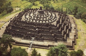 Borobudur Temple Top View