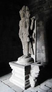 Brahma Statue in Prambanan Temple