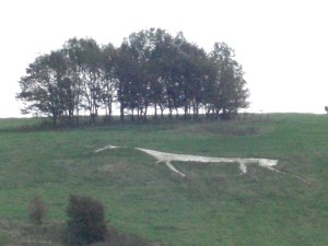 Chalk Horse Near Avebury