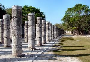 Chichen Itza 1000 Warriors Columns