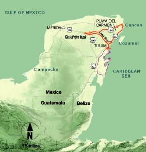 Chichen Itza Map