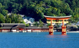 High Tide in Itsukushima Shrine
