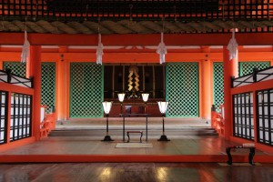 Inside of Itsukushima Shrine
