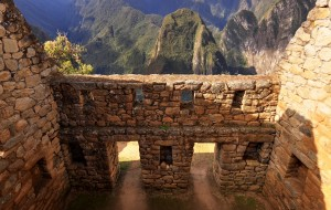 Interior of an Inca Building Trapezoidal Windows