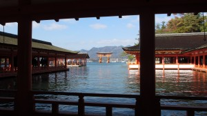 Itsukushima Shrine in High Tide