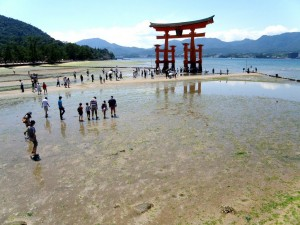 Itsukushima Shrine in Low Tide