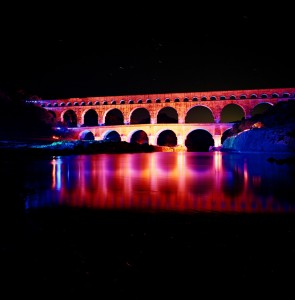 Night View at Pont du Gard