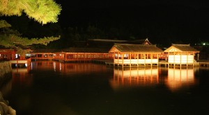 Night View of Itsukushima Shrine
