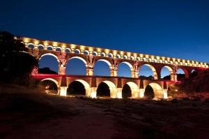 Pont du Gard at Night