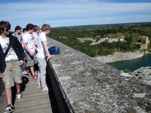 Top View of Pont du Gard