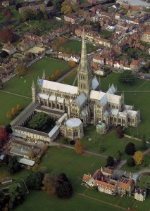 Aerial View of Salisbury Cathedral
