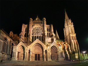 Chartres Cathedral at Night