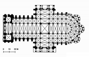 Chartres Cathedrale Plan