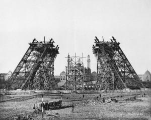 Construction Tour Eiffel Tower Step 1