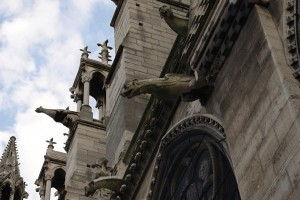 Gargoyles on Notre Dame de Paris