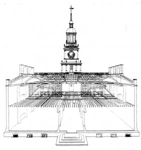 Independence Hall Drawing