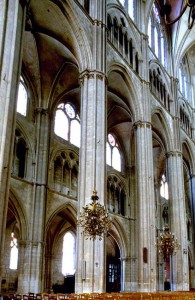 Inside of Bourges Cathedral