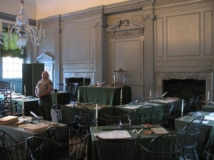 Inside of Independence Hall